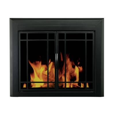 Easton Prairie Cabinet Style Steel Fireplace Doors