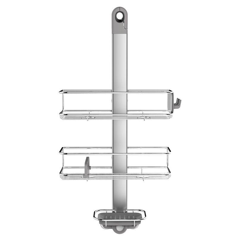 simplehuman Adjustable Shower Caddy, Stainless Steel + Anodized ...