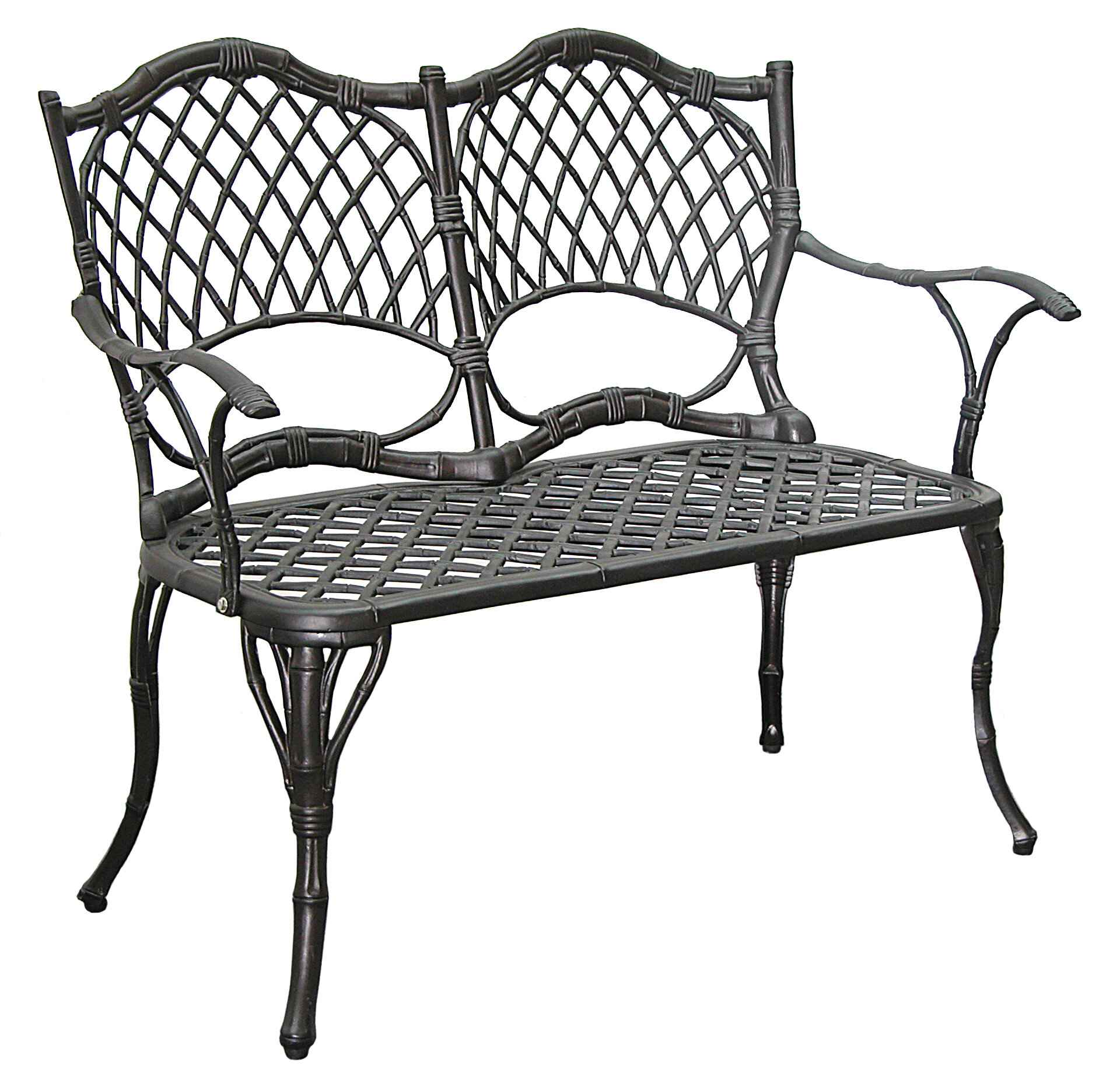 new powder seat steel garden chair furniture white patio outdoor bench itm frame coated