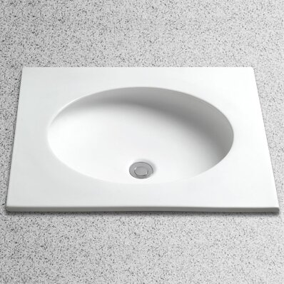 curva oval undermount bathroom sink with overflow - Undermount Bathroom Sinks