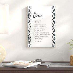 Love Is Patient Wall Art Wayfair