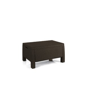 Bahama Storage Patio Resin Coffee Table