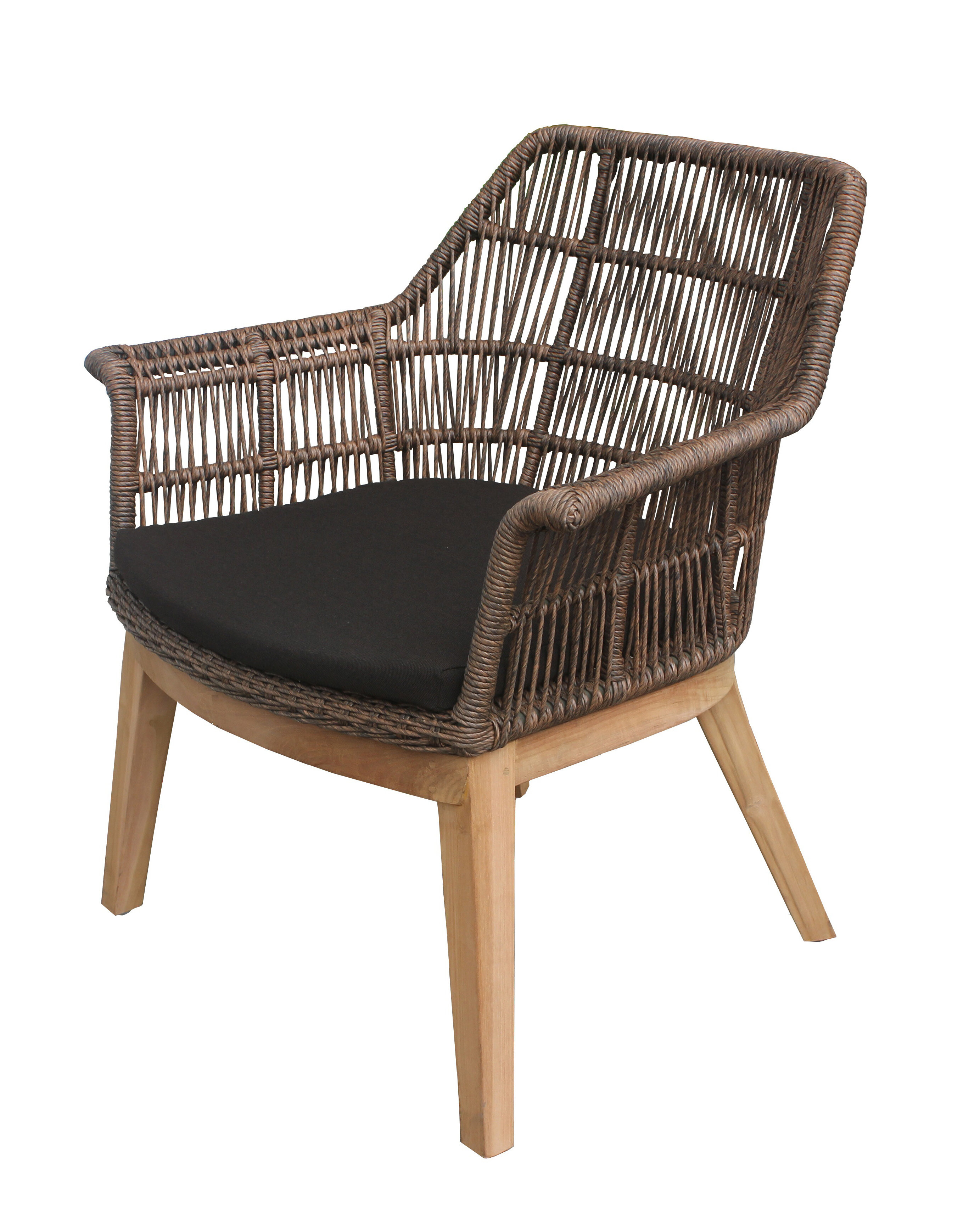 bungalow rose marley teak patio chair with cushion wayfair rh wayfair com teak wood patio chairs teak patio lounge chairs
