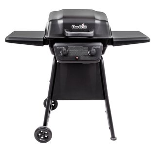 Clic 2 Burner Propane Gas Grill With Side Shelves