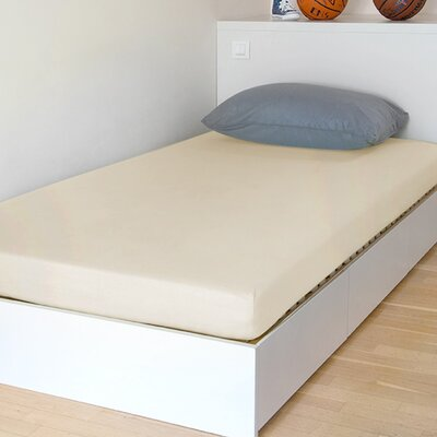 "Breathable And Waterproof Select Fitted Sheet And Protector Bsensible Size: 75"" H X 54"" W X 12"" D, Color: Ivory"