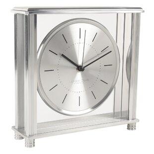 Quartz glass mantel clock