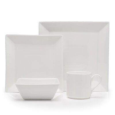 Plaza Vitrified China 16 Piece Dinnerware Set, Service for 4 Fortessa