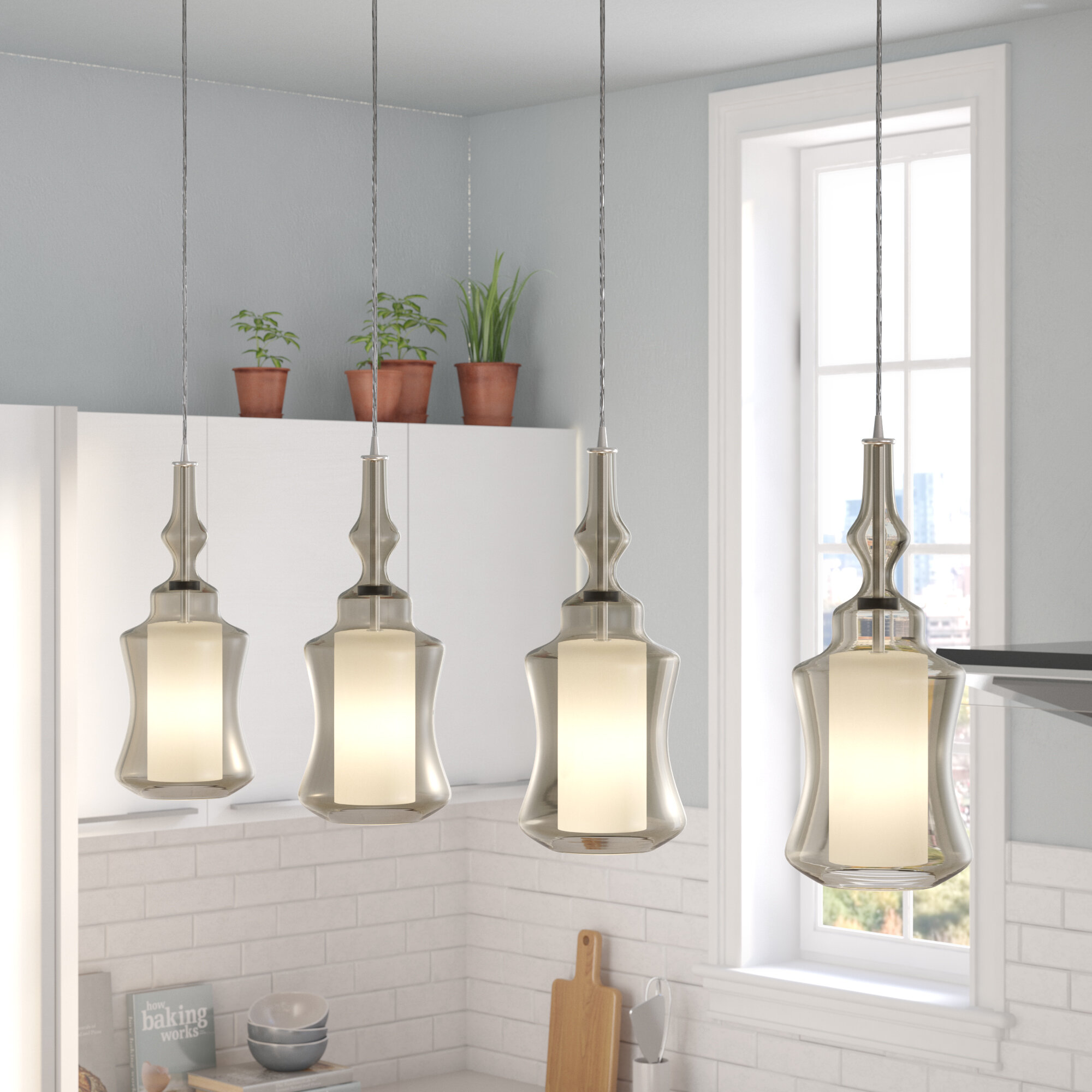 Brayden Studio Cabell Linear Pan 4-Light Kitchen Island Pendant ...