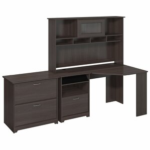 Hillsdale Corner Desk with Hutch and Late..