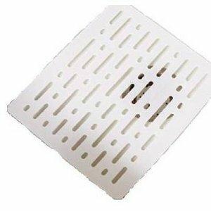 Twin Sink Divider Mat In White