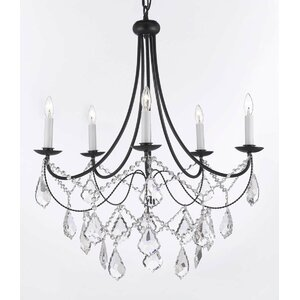 Clemence 5-Light Chain Candle-Style Chandelier
