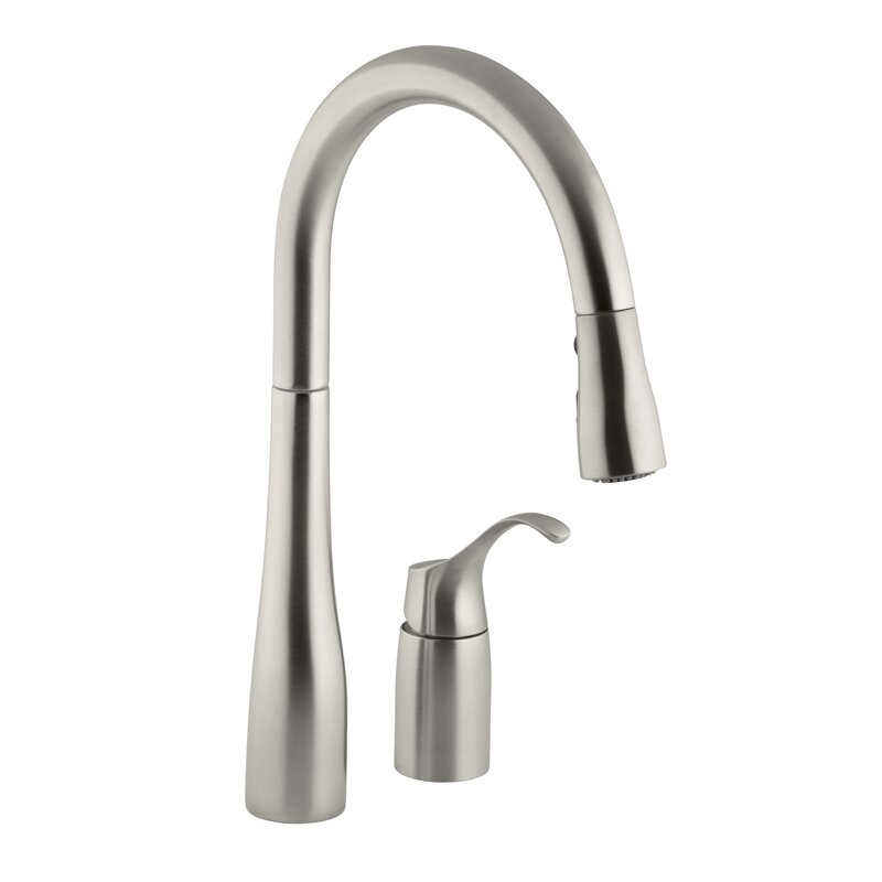 """Kohler Kitchen Faucets Simplice kohler simplice two-hole kitchen sink faucet with 16-1/8"""" pull"""