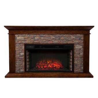 Darby Home Co Alvar Simulated Electric Fireplace Reviews Wayfair
