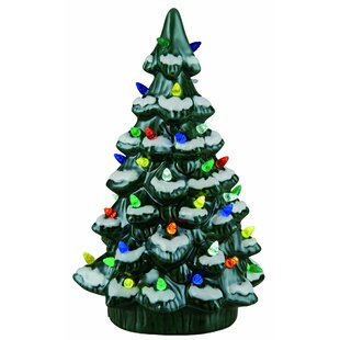 walter ceramic light up tree decor - Christmas Tree With Lights And Decorations