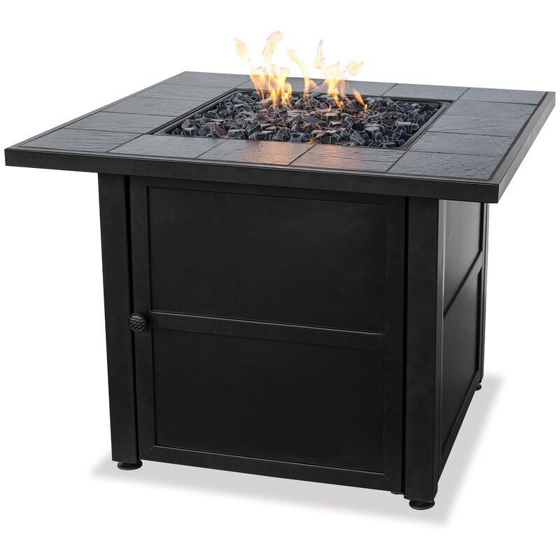 Blue Rhino Uniflame Steel Propane Fire Pit Table Reviews Wayfair - Octagon propane fire pit table