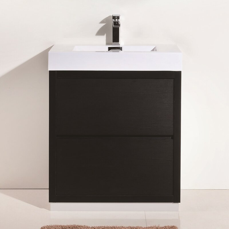 Tenafly Single Free Standing Modern Bathroom Vanity Set - Modern free standing bathroom vanities