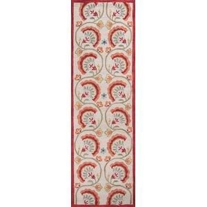 Indigo Hand-Woven Red/Beige Area Rug