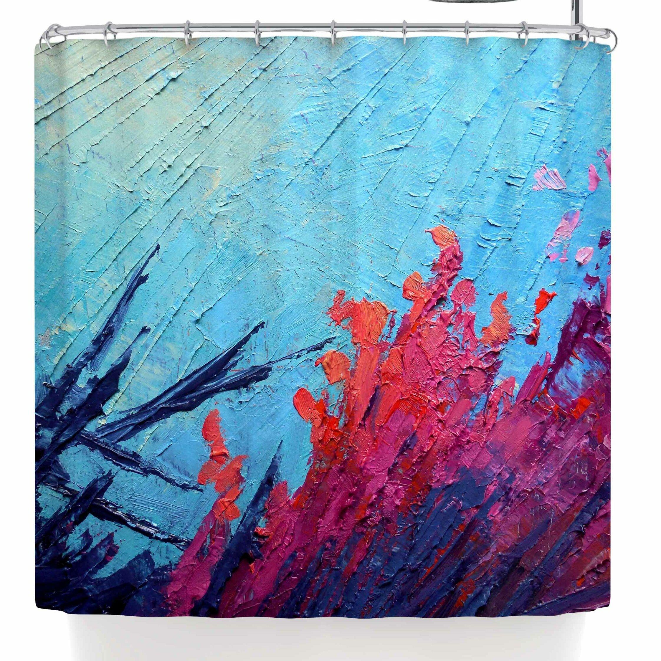 East Urban Home Carol Schiff Coral Reef Shower Curtain
