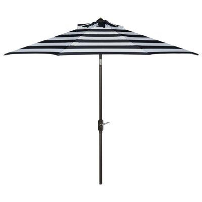Breakwater Bay 9' Market Umbrella Fabric Color: Navy/White