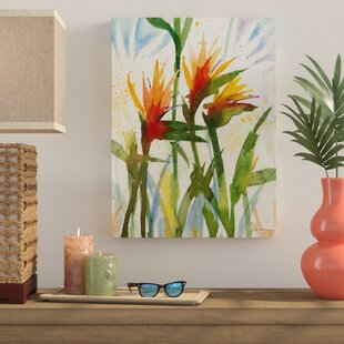 Birds Of Paradise Painting Print On Canvas