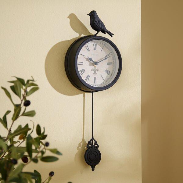 Three Posts 4 Quot Bird Pendulum Wall Clock Amp Reviews Wayfair