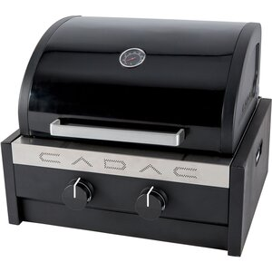 Tailgater Chef 2-Burner Free Standing Propane Gas Grill with RV Mounting Bracket