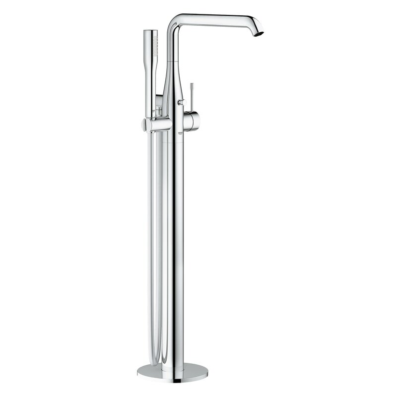 essence single handle floor mounted tub filler trim with shower