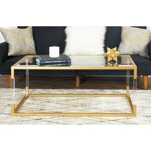 Metal and Glass Acrylic Coffee Table by Cole..