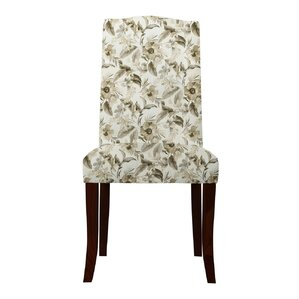 Lasseter Beige Floral Parsons Chair (Set of 2) by Red Barrel Studio