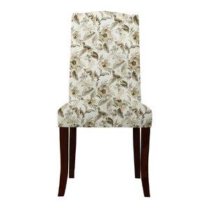 Lasseter Beige Floral Parsons Chair (Set ..