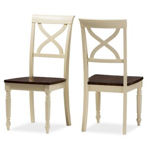 Baxton Studio Solid Wood Dining Chair (Se..
