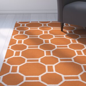 Evangeline Hand-Tufted Orange Indoor/Outdoor Area Rug