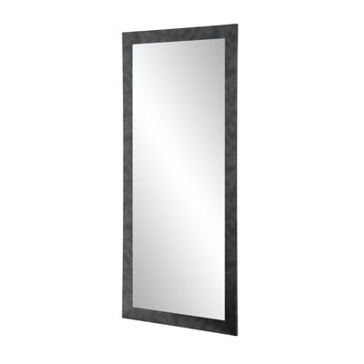 BrandtWorksLLC Clouded Gunmetal Leaning Wall Mirror