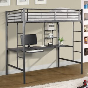 Jose Twin Loft Bed with Workstation by Viv + Rae