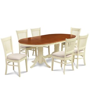 Lunde 7 Piece Dining Set by Andover Mills