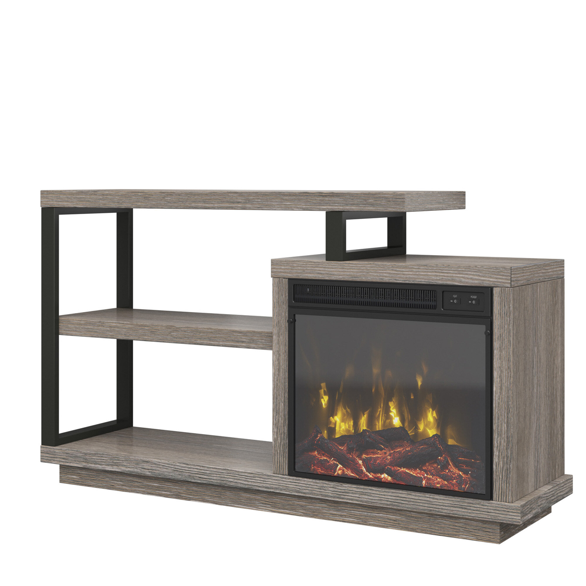 Louann Tv Stand For Tvs Up To 55 With Fireplace Reviews Allmodern