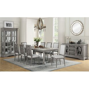 Jackeline 9 Pieces Extendable Dining Set