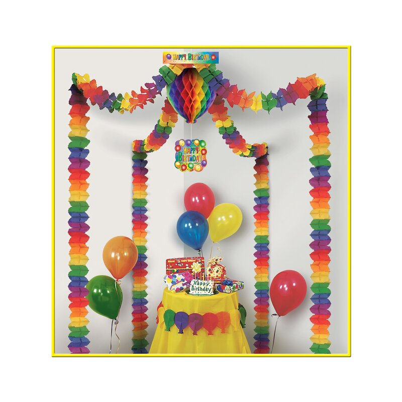 The Party Aisle Happy Birthday Party Wall Decor Wayfair
