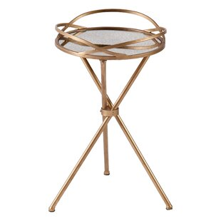 Leslie Mirrored Side Table