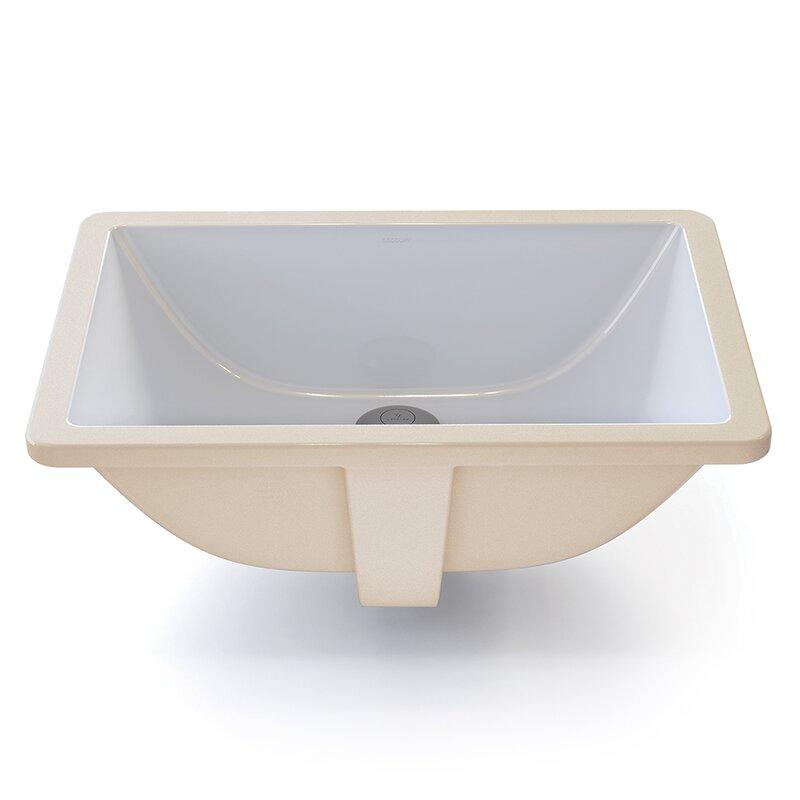 DECOLAV Callensia® Classically Redefined Ceramic Rectangular ...