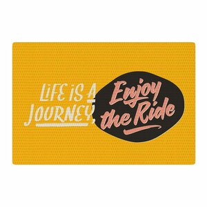 Juan Paolo Enjoy The Ride Vintage Yellow Area Rug