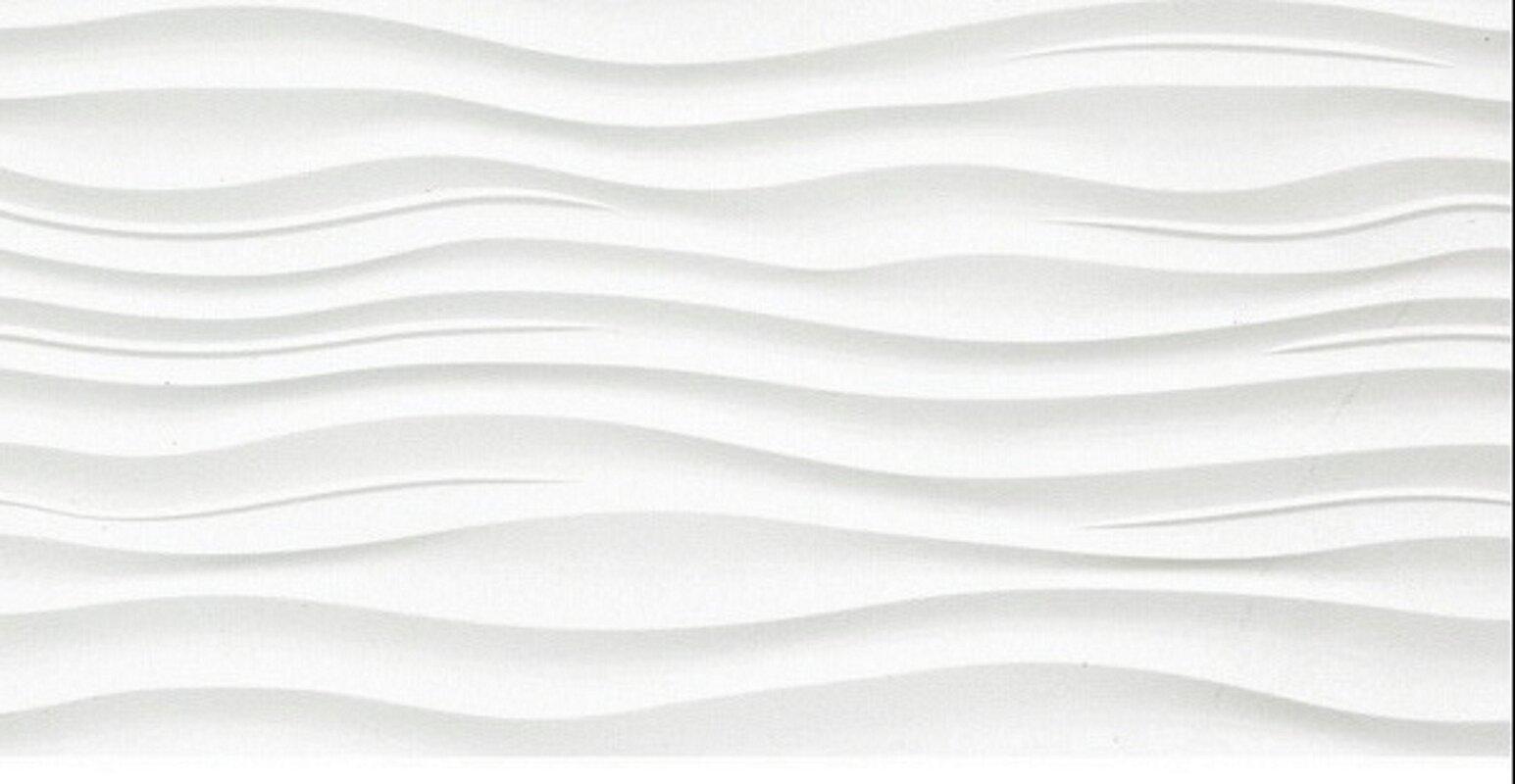 Emser Tile Surface 12 X 24 Porcelain Tile In Ripple White