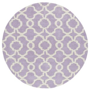Molly Hand-Tufted Lilac / Ivory Area Rug