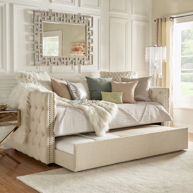 Tufted Twin Trundle Bed House