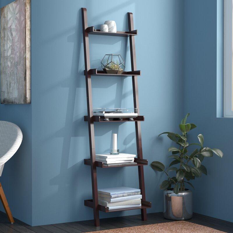 winston porter kathryn 5 tier ladder bookcase reviews wayfair. Black Bedroom Furniture Sets. Home Design Ideas
