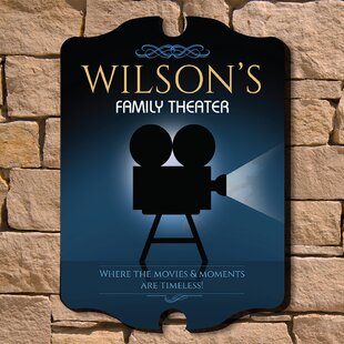 Family Theatre Wall Sign Personalized Decor