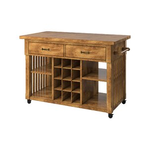 Fortville Kitchen Cart with Wood by Three..