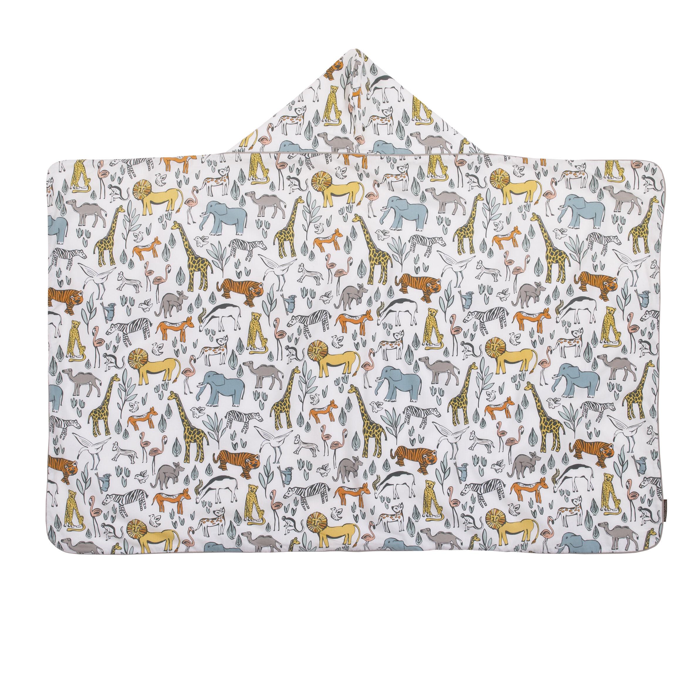 DwellStudio Safari Percale 100% Cotton Bath Towel | DwellStudio