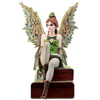 Set of 4 Fantasy Pixie Fairies And Unicorns Small Glitter Water Globe Figurines