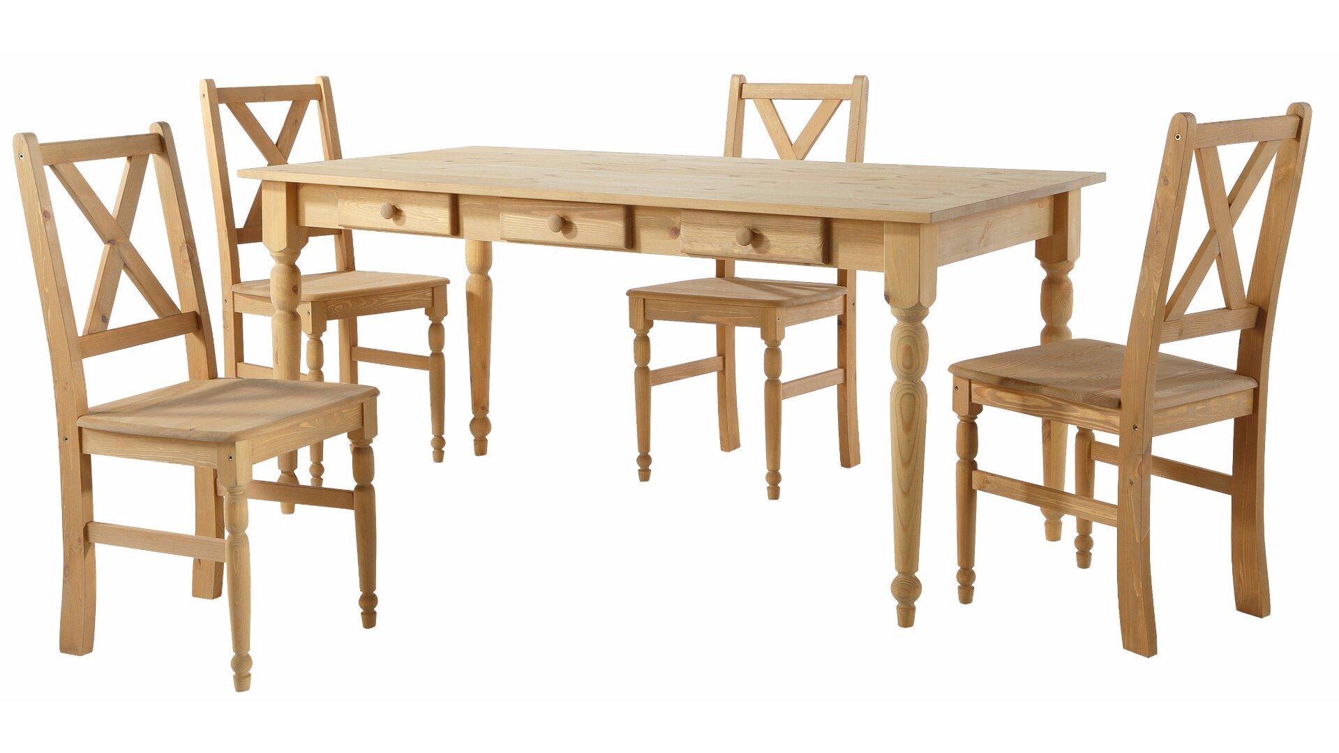 Hokku Designs Noah Dining Set With 4 Chairs U0026 Reviews | Wayfair.co.uk